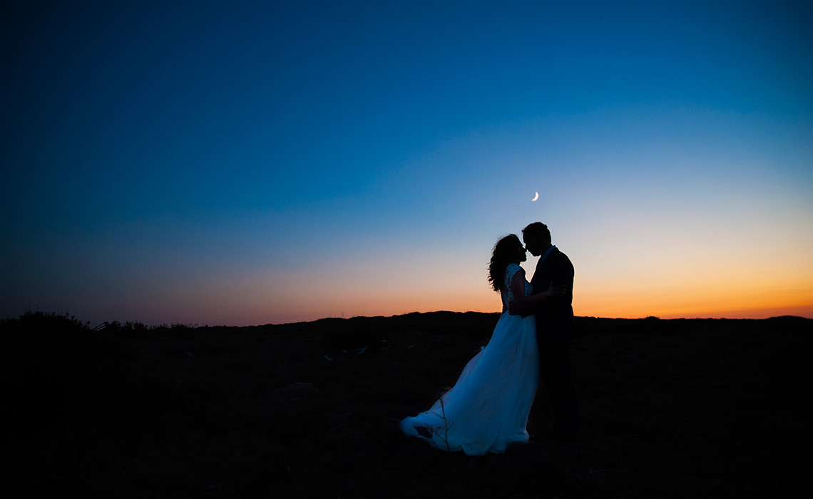 Sunset with my love in Agia Dinami, Chios, Greece. greek island. greek wedding. traditional wedding. silhouettes. couple photoshooting. destination wedding. fine art wedding