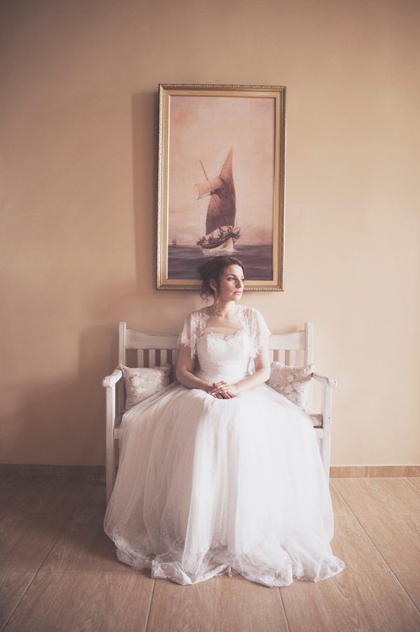 Bride's portrait. Vintage picture. chic and beautiful. Kampos, Chios, Greece , Alepa Katerina , Layer Photography