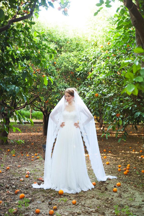 Wedding Photoshooting. orange trees. Bride's portrait. Riziko. greek wedding . Chios , Greece. greek island. Couple photoshooting. Love and married. Alepa Katerina . Layer Photography