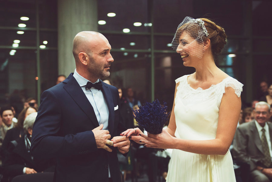 Town hall. Couple in love. Happy life, bride and groom. Wedding rings. Civil wedding in Thessaloniki, Greece