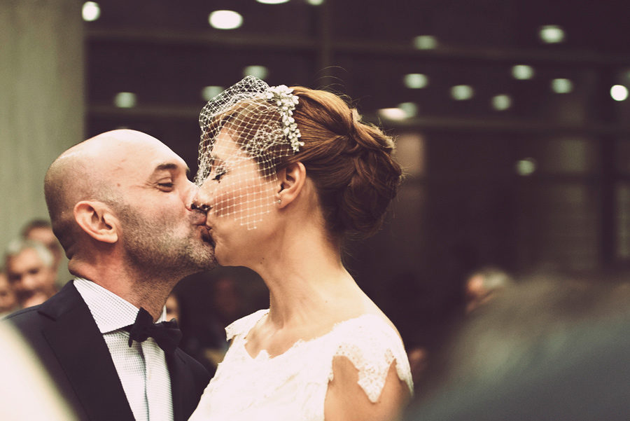 May the groom kiss the bride. Town hall. Couple in love. Happy life, finally married, couple, bride and groom. Civil wedding in Thessaloniki, Greece. Layer Photography. Alepa Katerina
