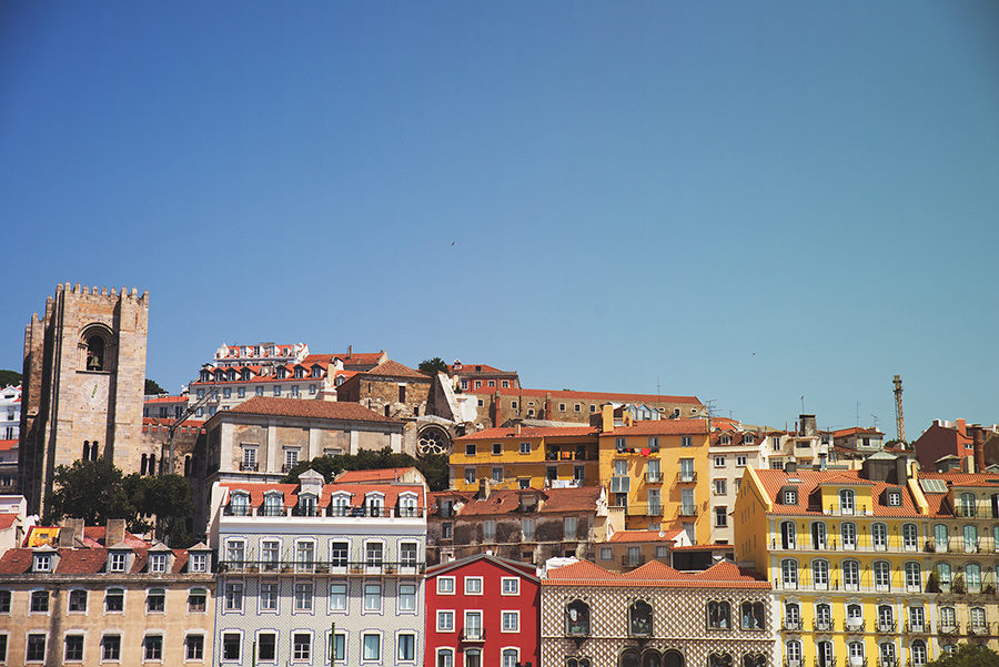 Alfama is one of the oldest districts of Lisbon, Portugal. Alepa Katerina . Layer Photography