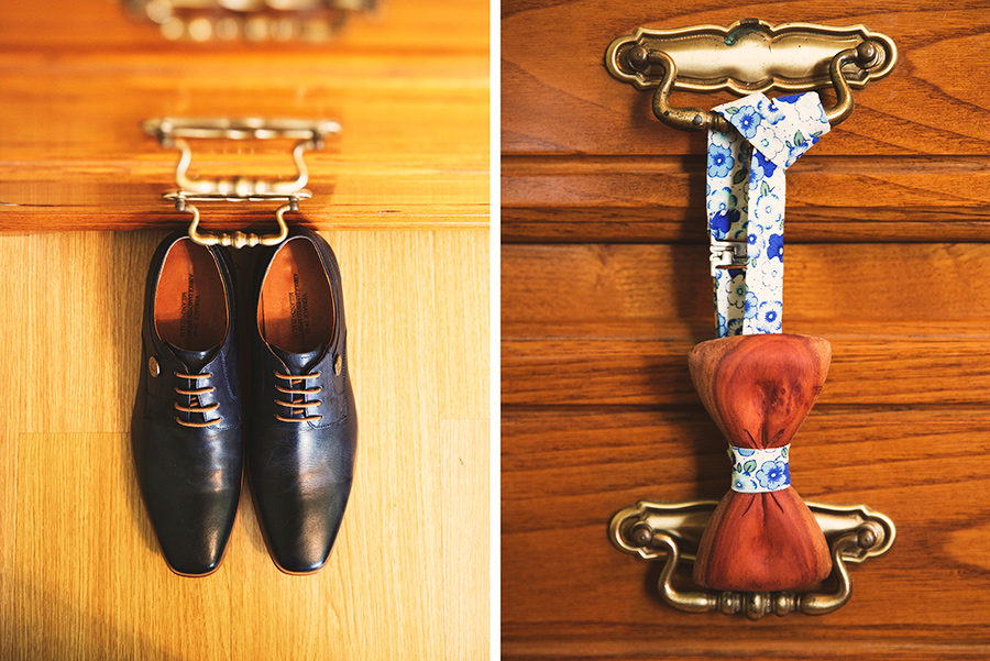 Groom's shoes. Bow tie. Groom's preparation. Vale Da Teja. Portugal. Layer Photography. Alepa Katerina