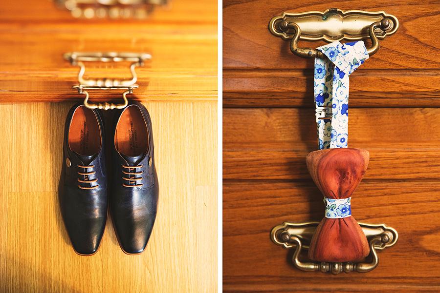 Groom's shoes. Bow tie. Groom's preparation. Vale Da Teja. Portugal. Layer Photography. Alepa Katerina