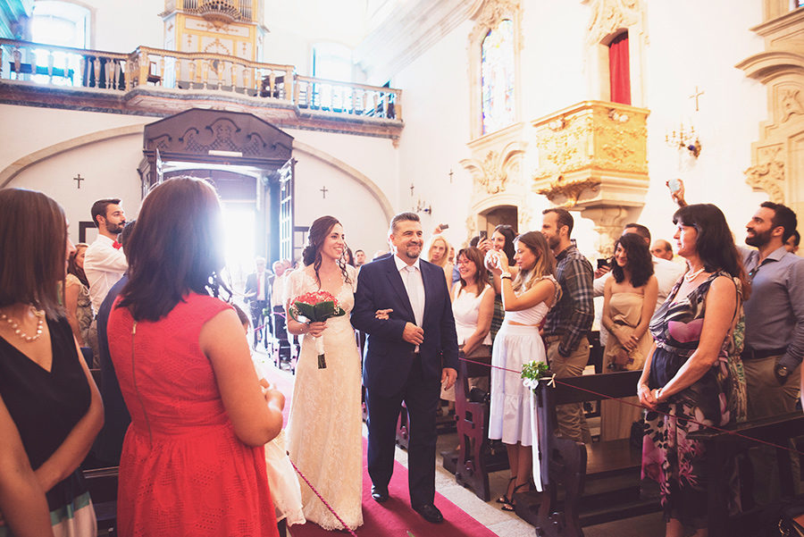 Bride's father came with his daughter. family. friends. Groom and Bride, wedding. Santuário de Nossa Senhora dos Remédios, Shrine of Our Lady of Remedies the cathedral in Lamego.Portugal. Layer Photography. Alepa Katerina