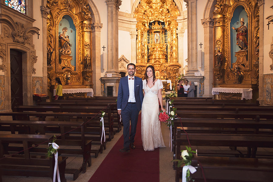 Couple in the church.Their married. Friends, happiness. Couple, Groom and Bride.Santuário de Nossa Senhora dos Remédios, Shrine of Our Lady of Remedies the cathedral in Lamego.Portugal . Layer Photography. Alepa Katerina
