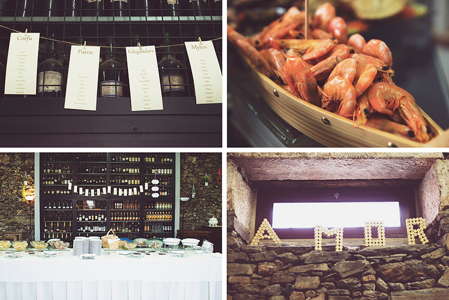 Table lists. fish and wine. amor. welcome drink. Wedding dinner.Quinta Vale De Locaia Lamego . Portugal