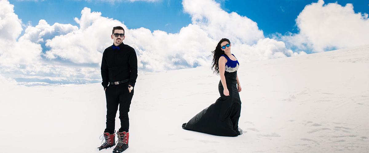 Frozen in Love : Kwnstantina & Tilemachos prewedding in 3-5 pigadia, Greece